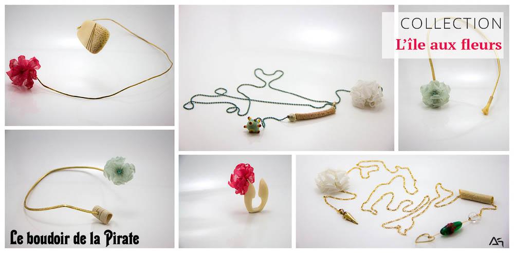 Collection L'île aux fleurs, photos des bijoux Le boudoir de la Pirate