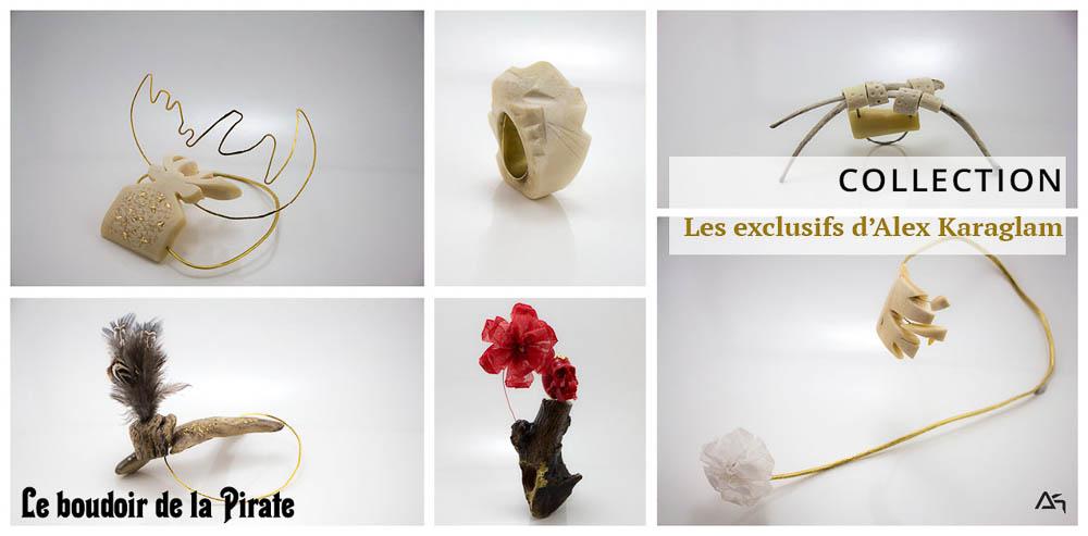 Collection Les exclusifs d'Alex Karaglam, photos des bijoux Le boudoir de la Pirate