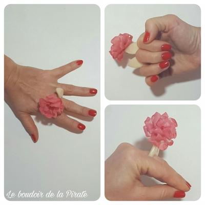 bague pinkearflor bijou porté