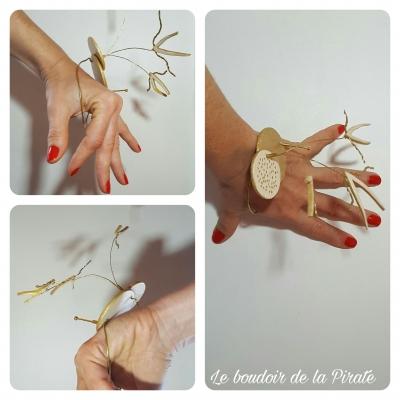 bracelet flyingpeacock bijou porté