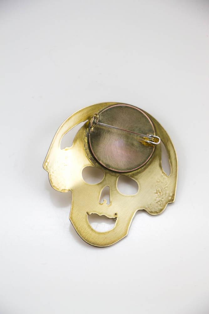 broche headphonik, vue de dos, collection les jolly rogers